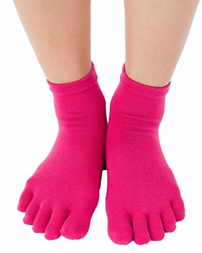 創造逆説頑固なLASANTE 6180:ランニングショート5本指ソックス(5本指靴下)S/M/L (M(24-26cm), ピンク)