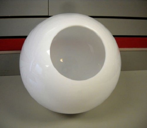 12'' White Acrylic Round Plastic Light Globe Pole Post Lamp Outdoor Fixture
