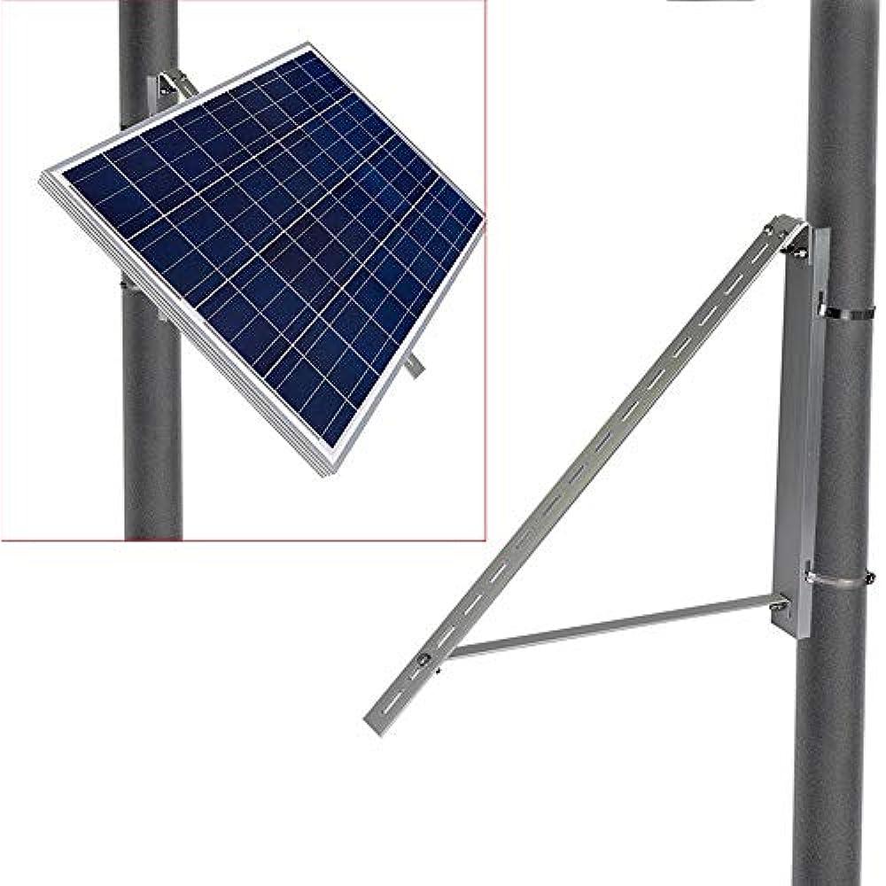 ECO-WORTHY Solar Panel Pole Mount Brackets Side-of-Pole Rack Mounting Brackets for 5W to 100W Solar Panels