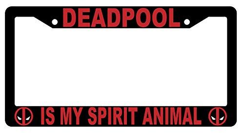 Deadpool Is My Spirit Animal High Quality Black Plastic License Plate Frame Deadpool Spirit License Plate