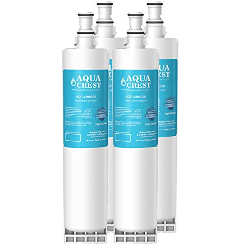 AQUACREST 4396508 Refrigerator Water Filter Replacement for Whirlpool 4396508 4396510 EDR5RXD1, EveryDrop Filter 5, Kenmore 46-9010, PUR W10186668, NLC240V (Pack of 4)
