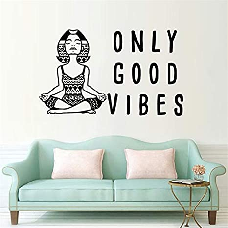 Geiqianjiumai Yoga Meditation Quote Wall Decor Vinyl Wall ...