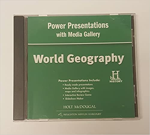 world geography power presentations with media gallery dvd rom