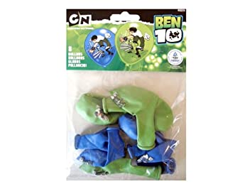 Everts 483711 Ben 10 - Pack de 8 globos: Amazon.es: Juguetes ...