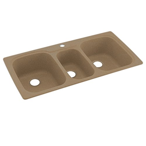 Swanstone KS04422TB.091 Solid Surface 1-Hole Drop in Double-