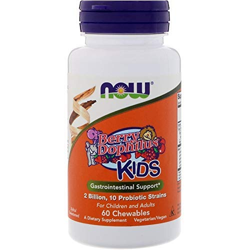 - NOW FOODS Berry Dophilus Chewable, 60 Count