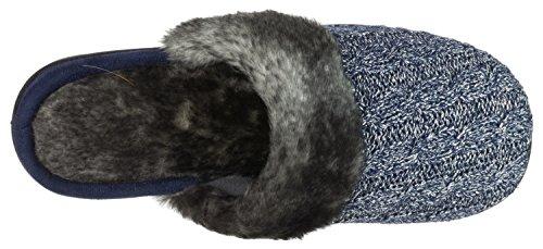 Isotoner Womens Lurex Câble Tricot Fairisle Tricot Erin Sabot Bleu Marine