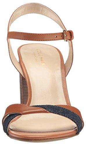 Cole Haan Womens Florena II Platform Dress Sandal British Tan/Denim 79QiiIDLh