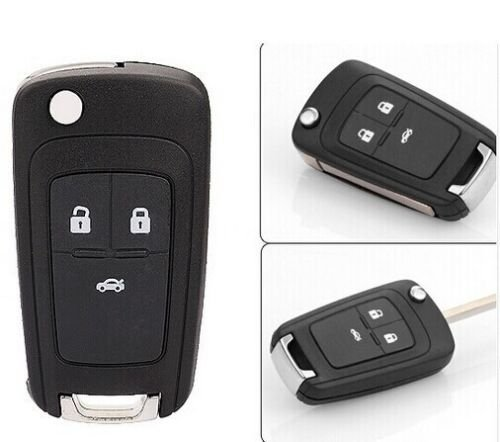 Keyless Entry NEW Folding Flip FOB Remote KEY Case Shell replacement for 2011 2012 2013 Chevy Chevrolet Cruze 3 Buttons