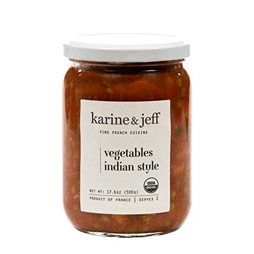 KARINE & JEFF, Vegetables, Og2, Indian Sty, Pack of 6, Size 17.6 OZ, (Gluten Free Low Sodium Vegan Wheat Free 95%+ Organic)
