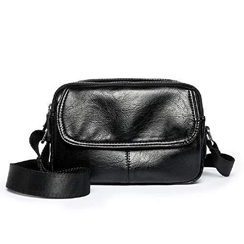 Simple Bolso La Con Hombre Ocio De Juvenil Tableta Para Compartimiento Negro Zhrui Bolsa Pequeño Damas Hombro Yw0H8q