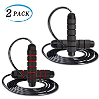 Jump Rope with Adjustable Steel Cables for Women Men Adults and Kids,Jumping Skipping Rope for Speed Crossfit/Boxing/MMA/Fitness/Exercise/Workouts