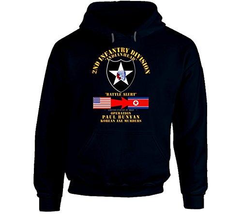 2XLARGE - Army - Operation Paul Bunyan - 2nd Infantry Division - Korea Hoodie - Navy