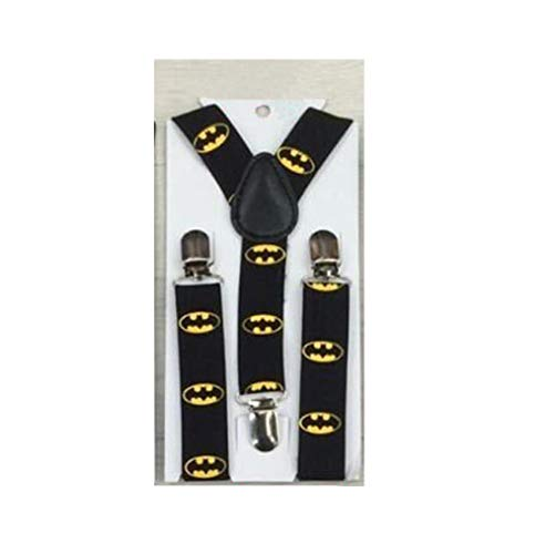 Toddler Baby Boy Girls Elastic Adjustable Suspenders Batman Strong Metal Clips Suspender (Batman) -