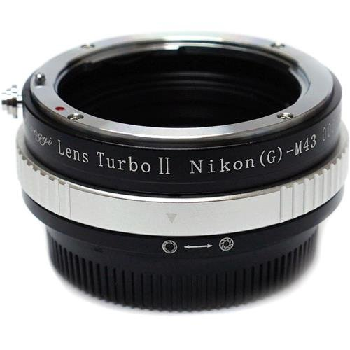 Mitakon Zhongyi Lens Turbo Adapter for Nikon G - M43 - Micro Four Thirds Camera, Version II (M43 / - Lens Turbo
