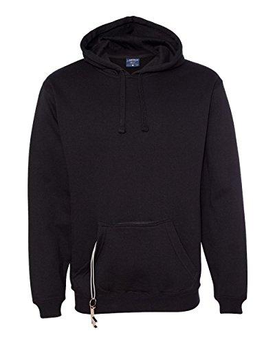 J America Mens Tailgate Fleece Pullover Hood Ja8815 -Black 2xl JA8815