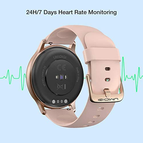 """Smart Watch, UMIDIGI Uwatch 2S Fitness Tracker Heart Rate Monitor, Activity Tracker with 1.3"""" Touch Screen, 5ATM Waterproof Pedometer Smartwatch Sleep Monitor for iPhone and Android. 3"""