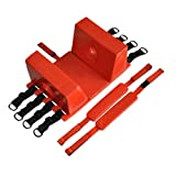 LINE2design Spine Board Head Immobilizer For Backboard - Universal Emergency Re-usable Rescue Lightweight with Straps - Red