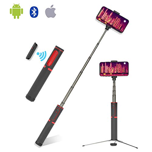 ETROBOT Bluetooth Selfie Stick Tripod, Aluminum Extendable Selfie Stick with Wireless Remote for iPhone X/8/8 Plus/7/7 Plus/Galaxy S9/S9 Plus/Note 8/S8/ Universal