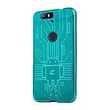 HUAWEI Nexus 6P Case, Cruzerlite Bugdroid Circuit Case Compatible for HUAWEI Nexus 6P - Retail Packaging - Teal