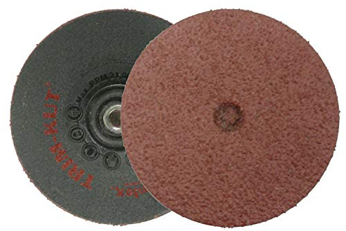 Trim-Kut Coated Finishing Disc - 3 in Disc Dia, Aluminum Oxide, 120 Grit, 21000 RPM, 5/16-18 in Ctr Hole THD (72 Units)