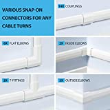 Yecaye 304in Cord Cover Kit, PVC Cable Concealer