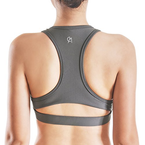 CHICMODA Sports Bra High Impact Workout Tops Racerback Support Wirefree Gym Fitness Bras for Women