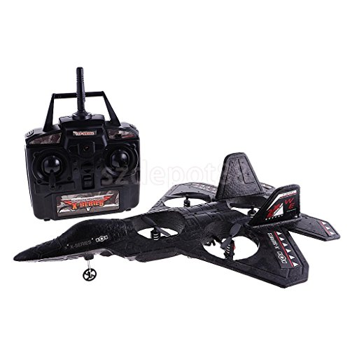 RC Airplane Ready To Fly RTF Radio Control F22 Fighter Jet Quad Copter Plane