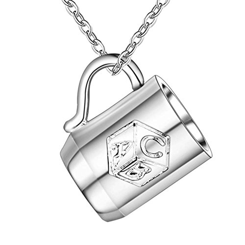 OUBEY Cup Shiny Fashion Silver Plated Necklace Silver Necklaces & Pendants