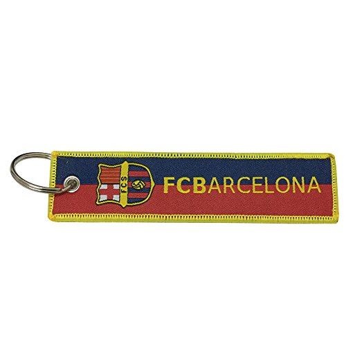 Nice Tagg 1pcs Blue Red Color Worldcup Football Team FC Barcelona Tag Keychain Gifts For FC Barcelona Fans ()
