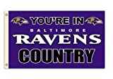 "NFL Baltimore Ravens 3-by-5 Foot ""In Country"" Flag"
