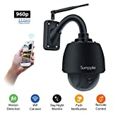 Sumpple Wifi camera Wireless PTZ Outdoor/Indoor Security Video Network IP Camera 960P 4X