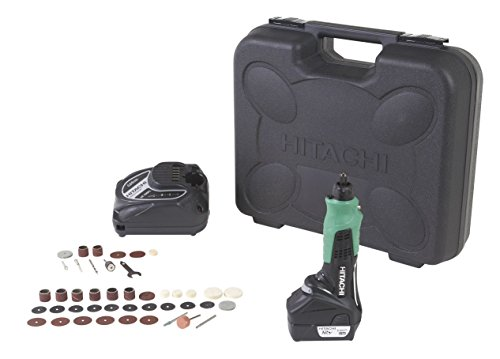 Hitachi GP10DL Cordless 12-Volt Peak Lithium-Ion Variable Speed Rotary Tool With 40-Piece Accessory Set (Hitachi 12 Volt Lithium Ion Battery Charger)