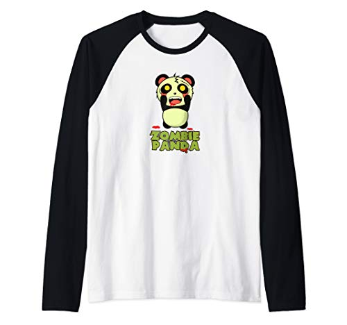 Zombie Panda Halloween Raglan Baseball -
