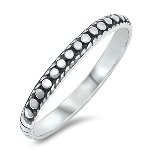 Sterling Silver Bali Design Oxidized Toe Ring Midi Above The Knuckle Pinky Stacking Size 3 to 6 (3.5)