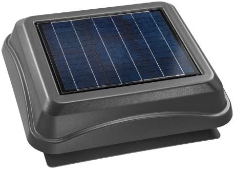 Broan 345SOWW Surface Mount Solar Powered Attic Ventilator, 28-Watt, Weathered Wood Renewed