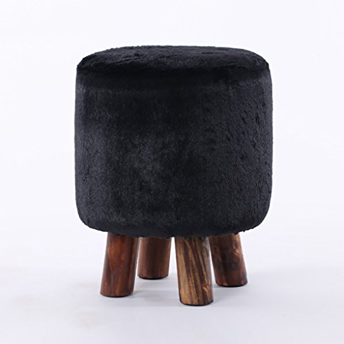AIDELAI Stool Minimalist Fashion Wood Stool Small Bench Creative Sofa Stool Stool Stool Changing His Shoes Stool Removable And Washable (33 41cm) Saddle Seat ( Color : # 2 ) by AIDELAI