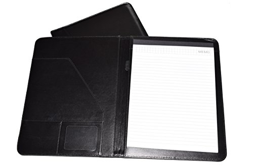 Leather Portfolio Folder, 2 Professional Leather Padfolio Folders, Great for Your Office, for College Students or for Carrying Your Resume to Job Interviews by Keeble Outlets (Image #1)