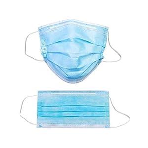 Masque hygiénique, 50 unités/boîte, 3 couches/BFE ≥ 95% Masque facial de filtration Matériau filtre et non-tissé