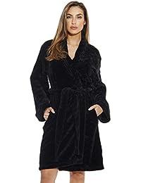 Kimono Robe/Velour Scalloped Texture Bath Robes for Women