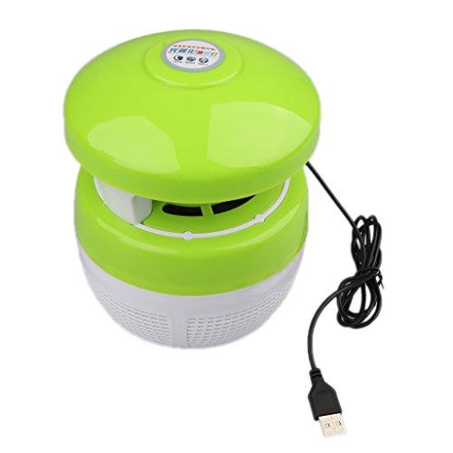 MagiDeal Ahorro de Energía USB Repelente de Insectos Lámpara de Anti-mosquitos - Verde