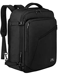 Carry on Backpack, Extra Large Travel Backpack Expandable Flight Approved Weekender Bag for Men and Women, Water Resistant Lightweight Daypack for Airplane 40L, Black