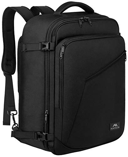 Matein Carry on Backpack, Extra Large Travel Backpack Expandable Airplane Approved Weekender Bag for Men and Women…