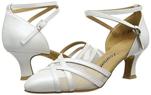 Donna Latino Diamant Standard Damen amp; 147 perlato Weiß Avorio 391 Da Tanzschuhe Ballo Scarpe 068 44Pwvn8rq
