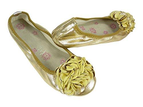 Chaussmaro - Bailarinas mujer dorado