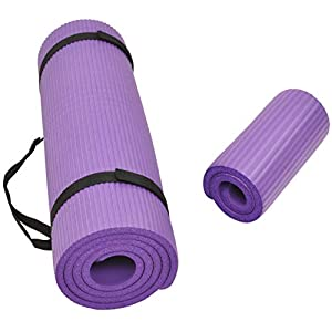 Well-Being-Matters 41q3UlaZ8tL._SS300_ BalanceFrom GoYoga+ All-Purpose 1/2-Inch Extra Thick High Density Anti-Tear Exercise Yoga Mat and Knee Pad with Carrying…
