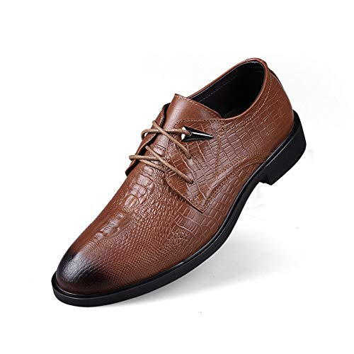 Oxford Sunny 38 classiche classiche Men's Light coccodrillo Scarpe Business Color Dimensione Casual Nero semplici all'abrasione Resistente EU da Brown amp;Baby e BqrTtPB