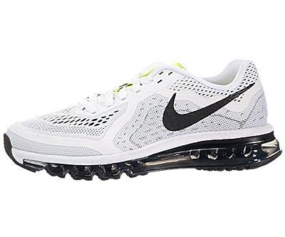 Nike Women's Air Max 2014 White/Black/Pure Platinum/Volt Running Shoe 6 Women US