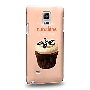 Case88 Premium Designs Art Collections Hand Drawing Cupcake Assorted Design you are the sunshine of my life Protective Snap-on Hard Back Case Cover for Samsung Galaxy Note 4