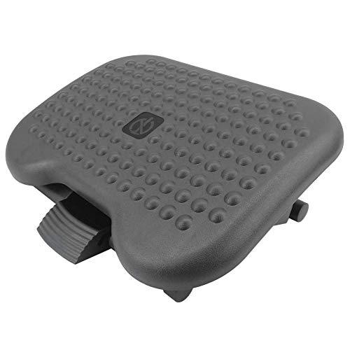 PrimeMatik - Reposapies con Plataforma Ajustable de plastico Negro 460 x 340 mm 3 Niveles